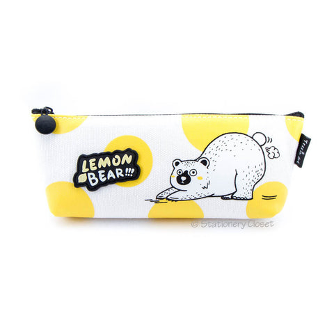 Lemon bear pencil case - downward dog
