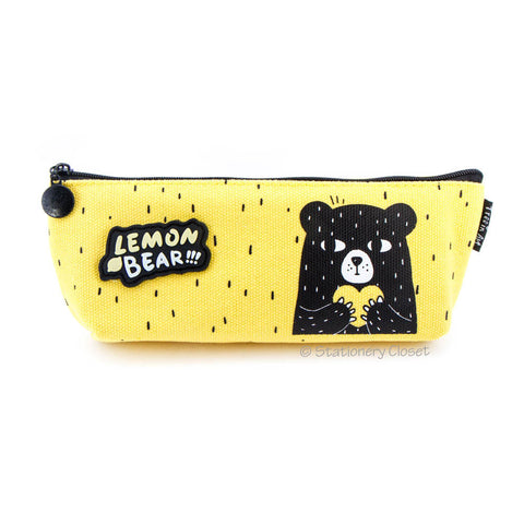 Lemon bear pencil case - heart to heart