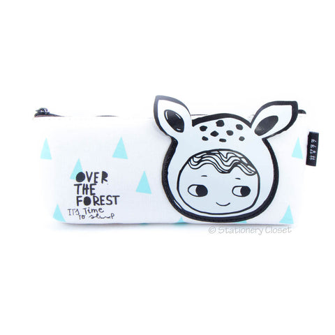 Dress-up girl pencil case - deer