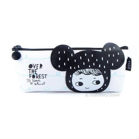 Dress-up girl pencil case - mouse