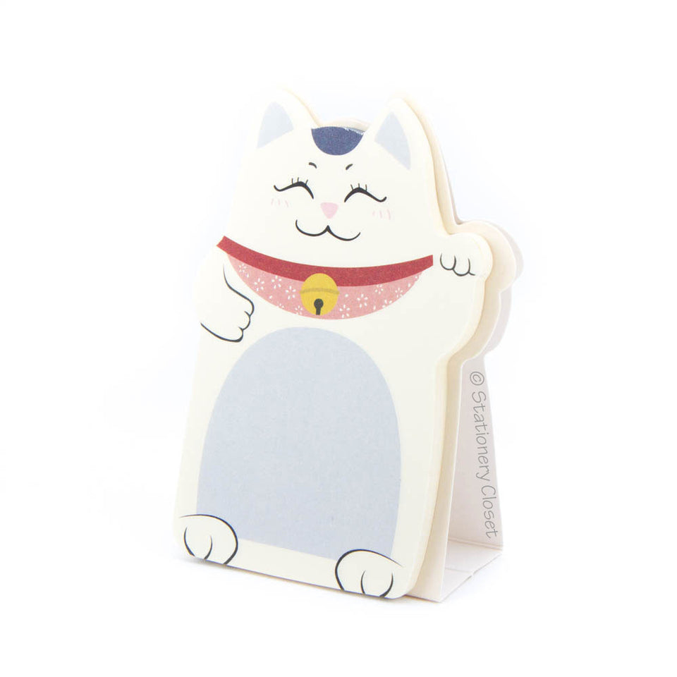 Lucky fortune cat sticky notes - purple