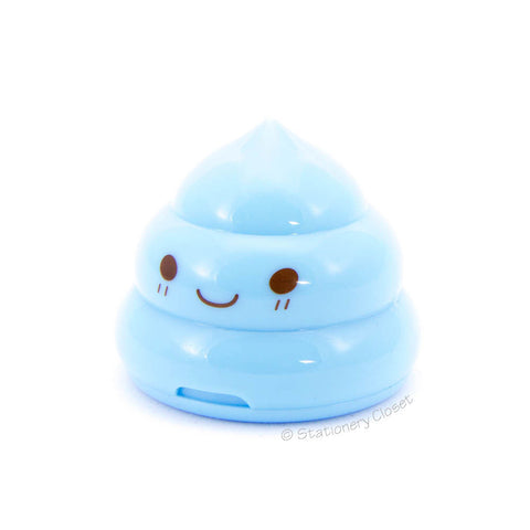 Poop pencil sharpener - blue