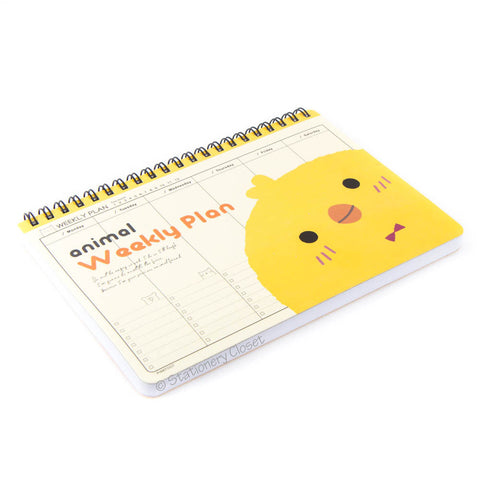Cartoon animal weekly planner/organiser - chick