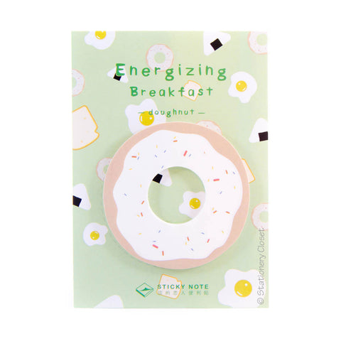 Breakfast sticky notes - doughnut