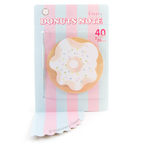 Doughnut sticky notes - frosted