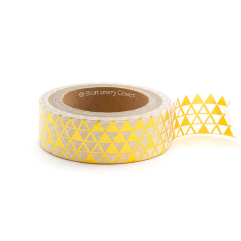 Washi tape - gold geometric pattern