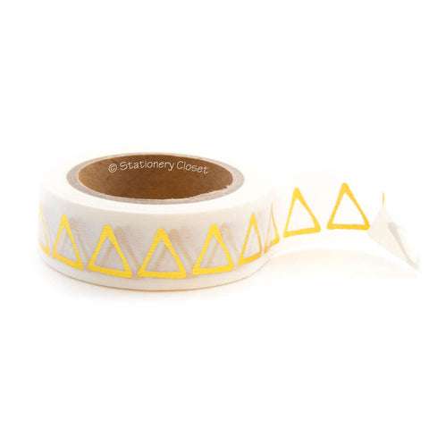 Washi tape - gold triangles