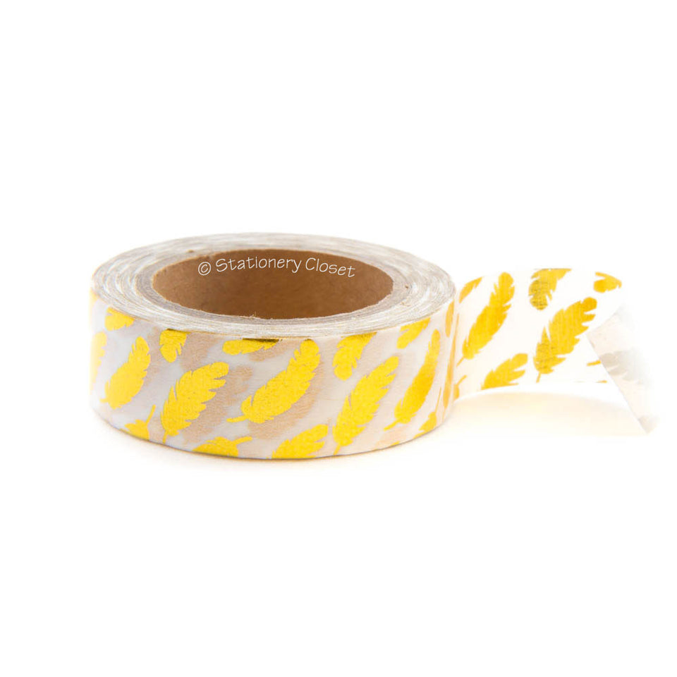 Washi tape - gold leaves