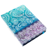 Hardback A6 notebook - Paisley pattern