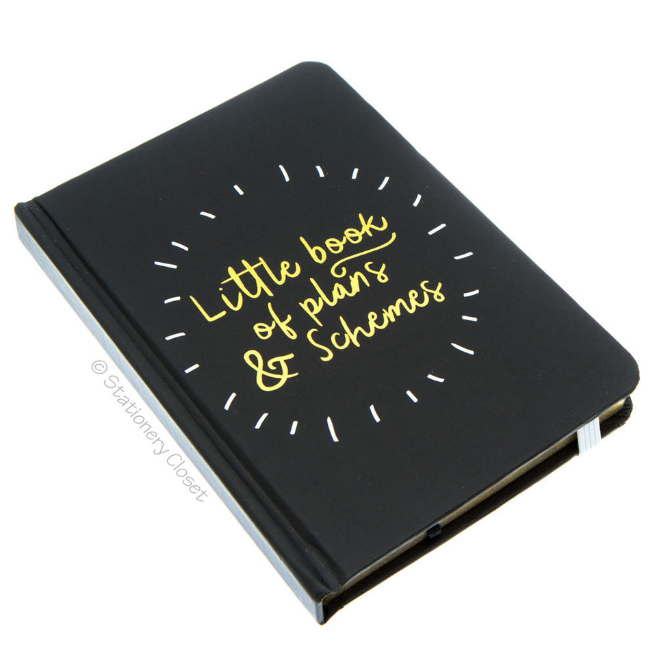 Hardback A6 notebook - Little Book of Plans & Schemes