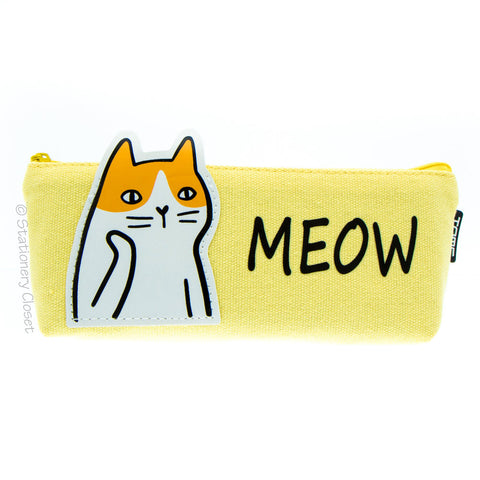 Animals with attitude pencil case - cat