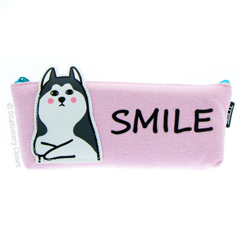 Animals with attitude pencil case - dog