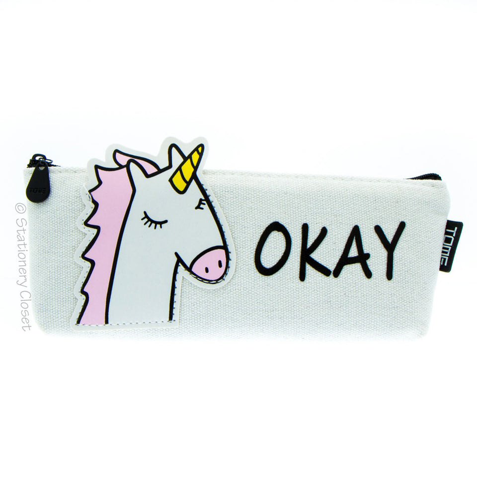 Animals with attitude pencil case - unicorn
