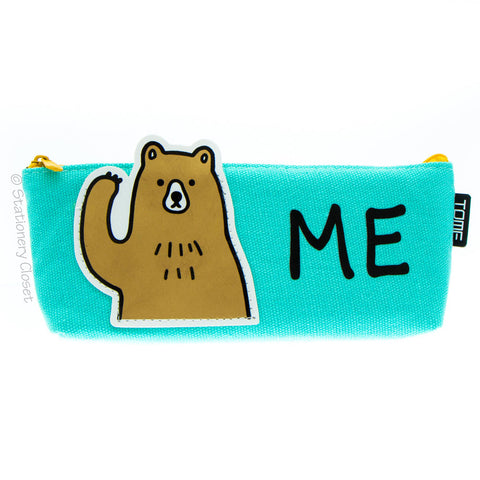 Animals with attitude pencil case - bear