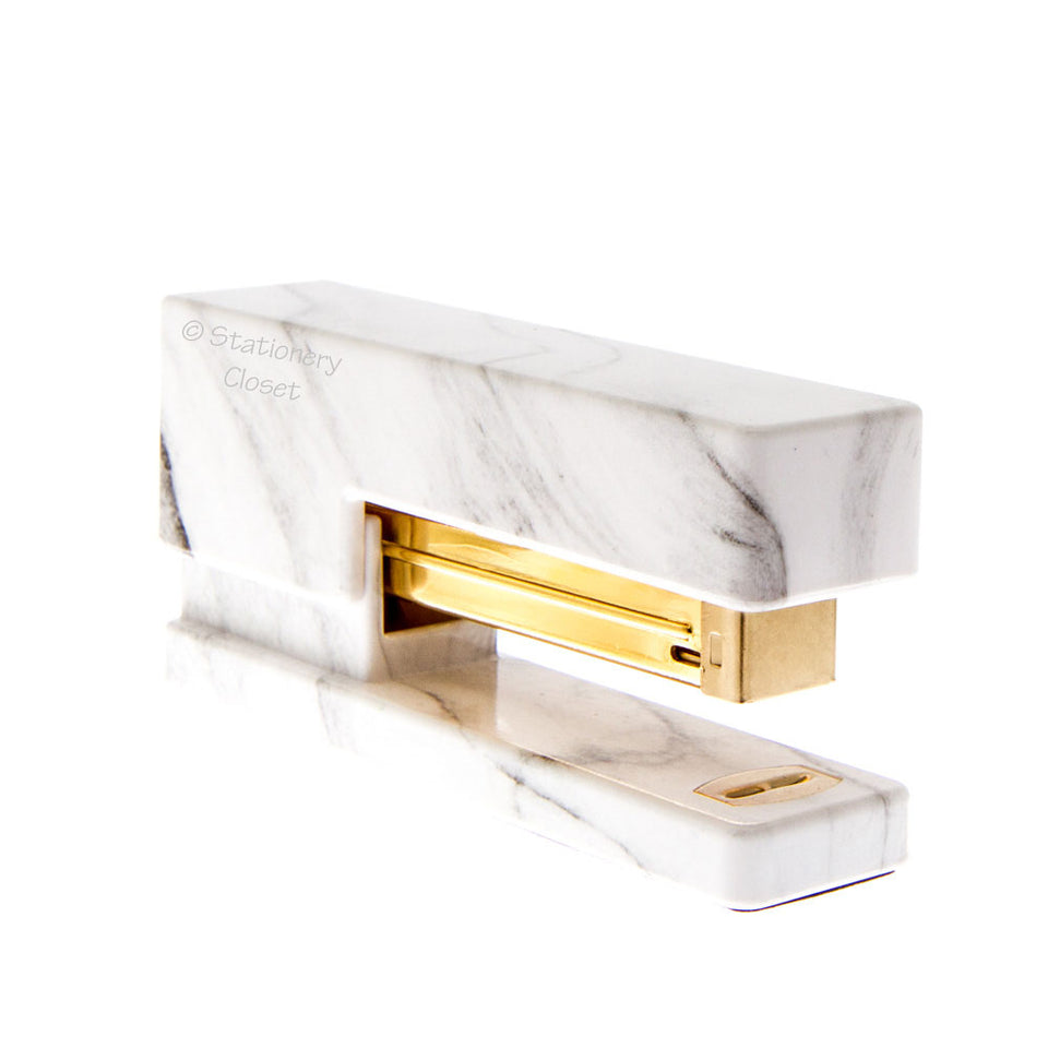 Marble and gold stapler