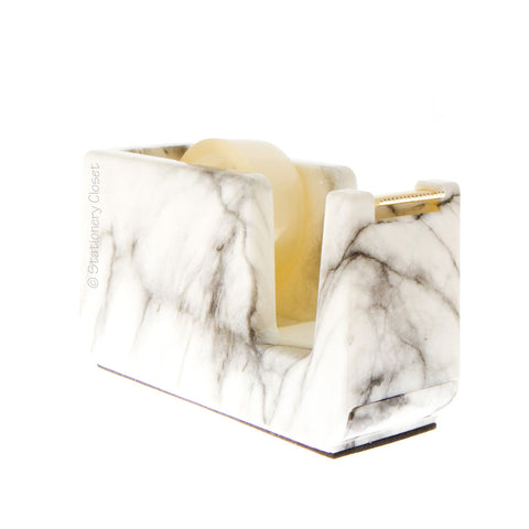 Marble and gold tape dispenser