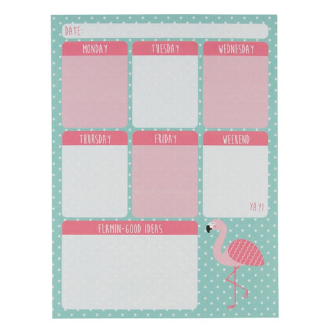Flamingo weekly planner pad