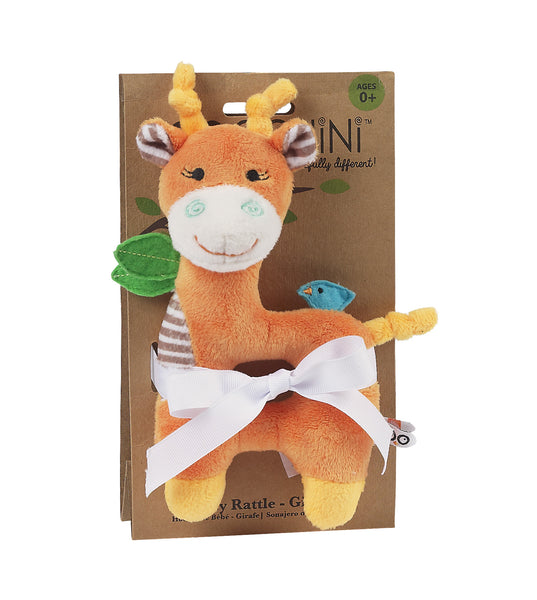 zoocchini animal rattle, giraffe, orange