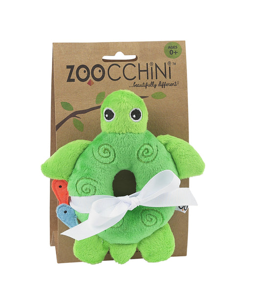 zoocchini animal rattle, turtle green