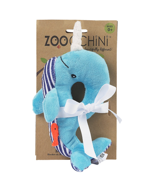 zoocchini animal rattle, whale blue