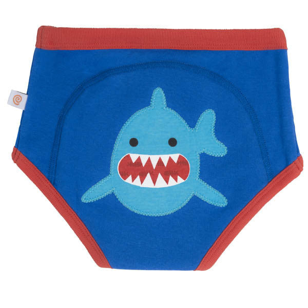 Zoocchini training pants, single pack, shark, organic