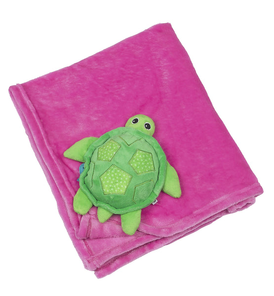 zoocchini stroller blanket, turtle pink