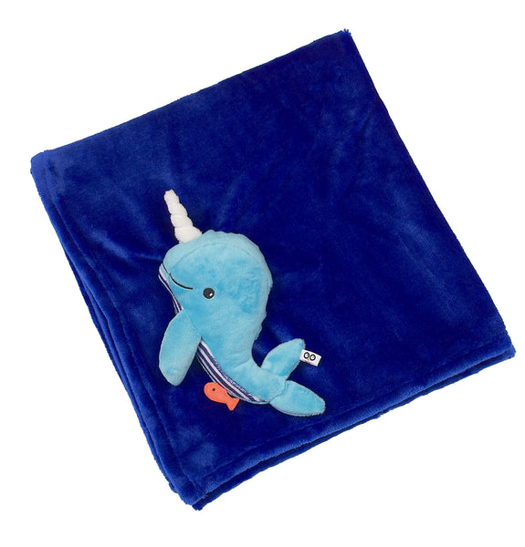 zoocchini stroller blanket, whale blue