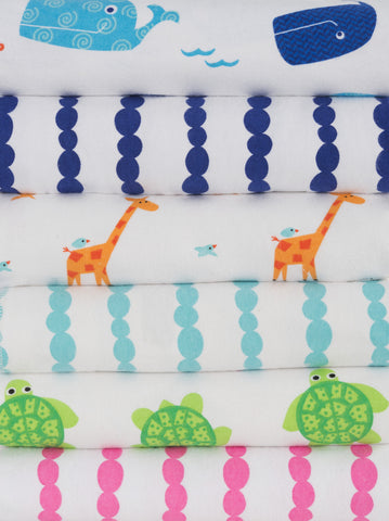 Zoocchini 100% Cotton Baby Flannel Receiving Blankets (set of 2)