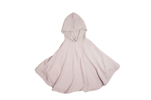 fabelab muslin poncho, mauve, children's accessories