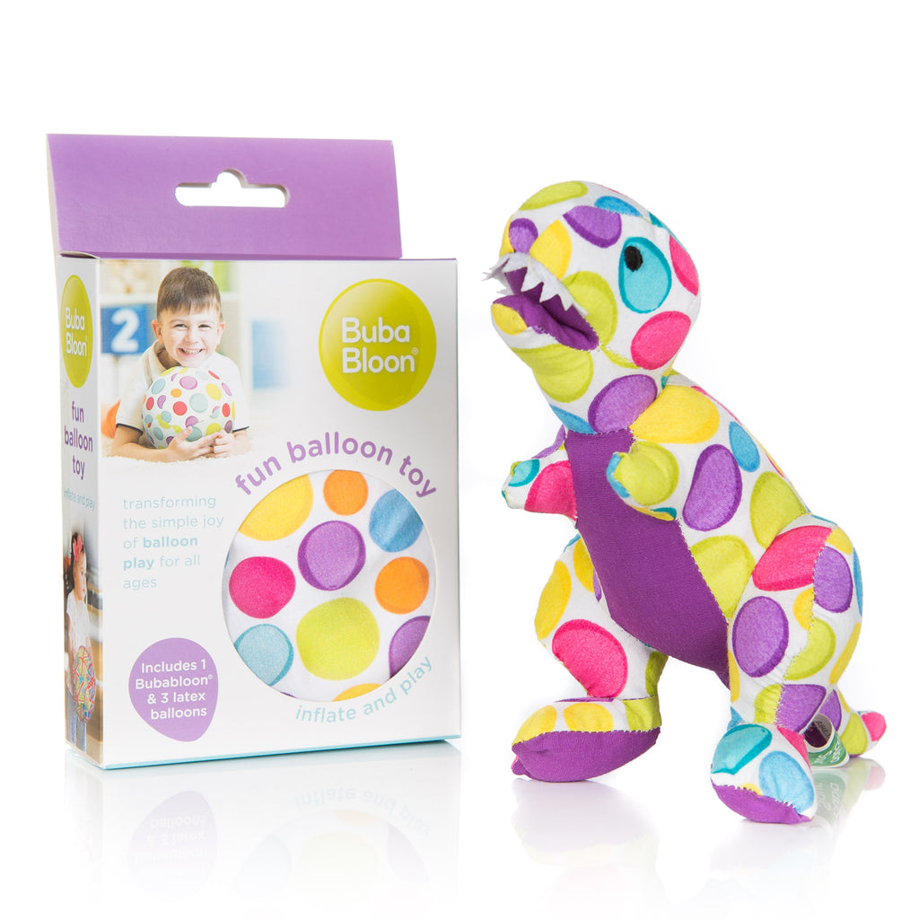 dinosaur toy and balloon gift set