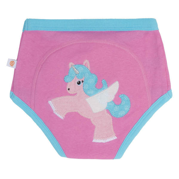 Zoocchini training pants, single pack, alicorn, organic