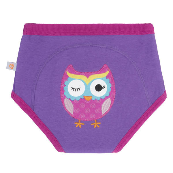 Zoocchini training pants, single pack, owl, organic