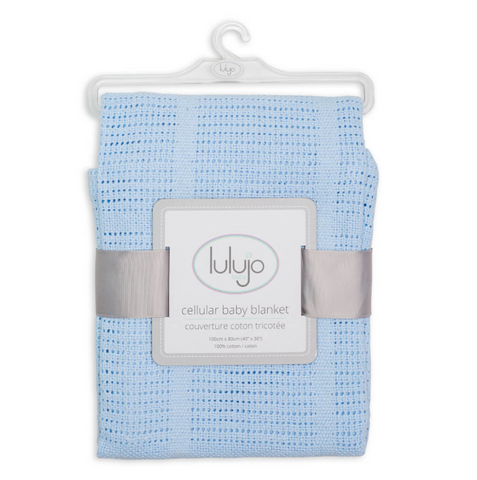 Lulujo cotton blanket in blue, baby accessories