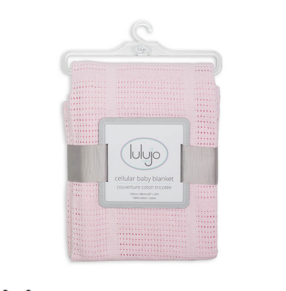 Lulujo cotton blanket in pink, baby accessories