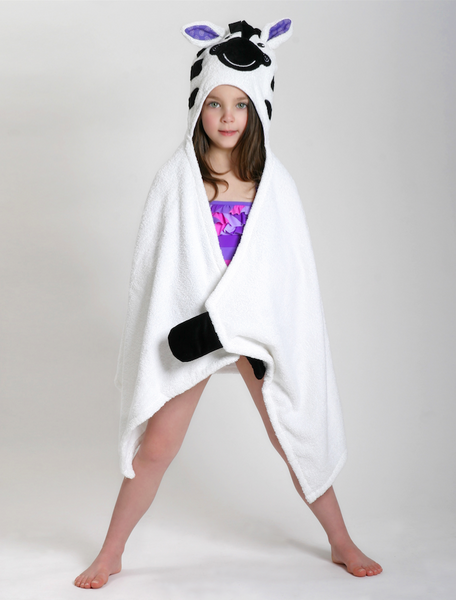 zoocchini hooded towel, ziggy the zebra