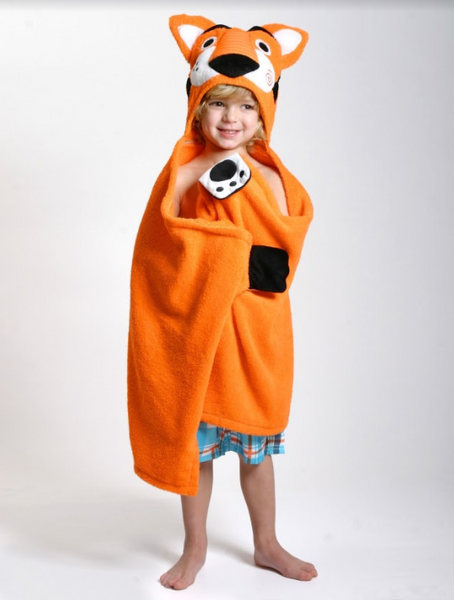 zoocchini hooded towel, travis the tiger