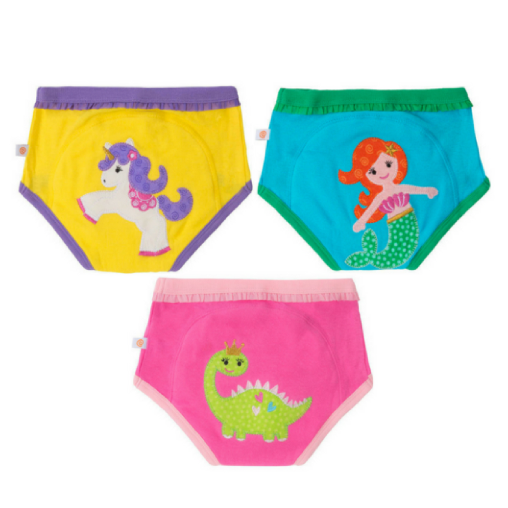 zoocchini training pants, pack of 3, fairy tails design