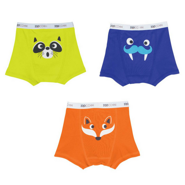 Zoocchini Crazy Critters Organic Cotton Boxer Briefs (set of 3)
