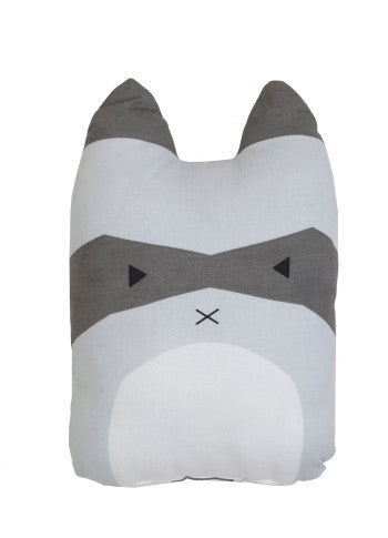 Fabelab raccoon cushion, homeware, interior and gift