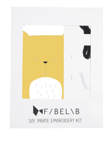 fabelab embroidery kit, creative play, bear