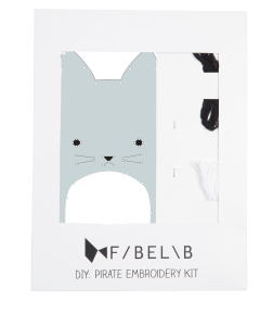 fabelab embroidery kit, creative play, cat