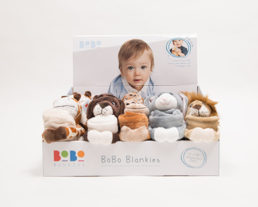 POS Unit Containing 15 BoBo Original Blankies (3 of each design)