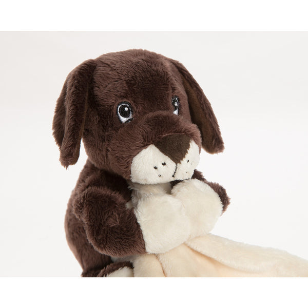 Brown baby puppy comforter, comes with blanket