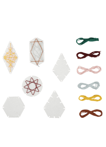 Fabelab Geometric Ornament Craft Kits