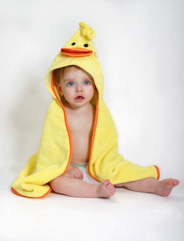 Zoocchini baby hooded towels, duck