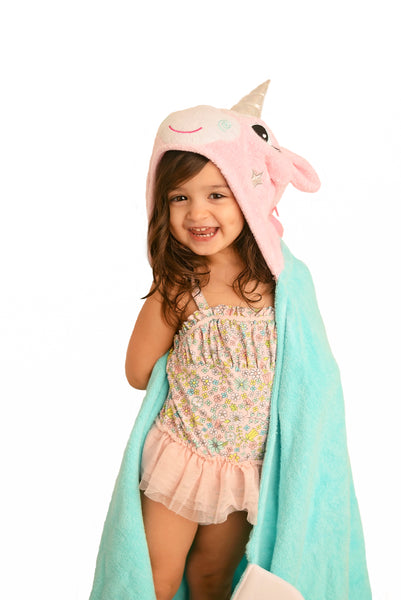 zoocchini hooded towel, allie the alicorn
