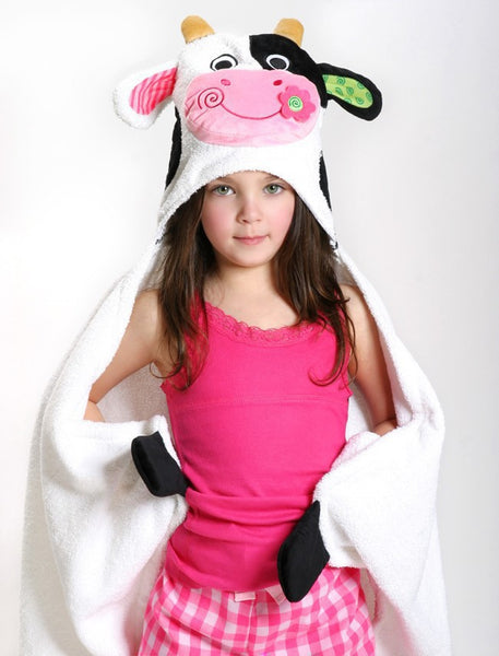 zoocchini hooded towel, casey the cow