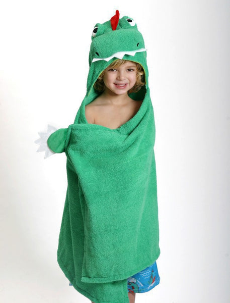 zoocchini hooded towel, devin the dinosaur