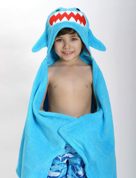 zoocchini hooded towel, sherman the shark