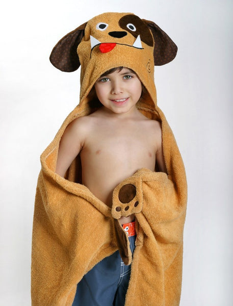 zoocchini hooded towel, duffy the dog